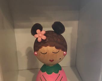 Kawaii Wooden Kokeshi Little Ms. Luv Giving