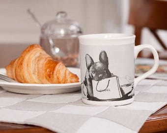 Custom Mug Home Decor, Fashionable  Home Accessories, Parisian Fashion Style Mugs, Pet Lovers Home Decor, Chanel Home Accessories, Frenchie