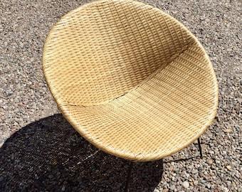 XxSOLDxX Rare 1950s wicker satellite cone chair