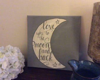 To the Moon Canvas Wall Decor