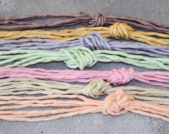 Naturally dyed silk cords | hand dyed silk cords | plant dyed silk cords | jewelry cord | silk strings | silk ribbon