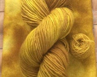 Hand Dyed Wool Yarn 'Marigold'