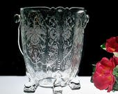 RESERVED FOR WILLIAM ~ Heisey Queen Anne Dolphin Footed Ice Bucket With Orchid Etching
