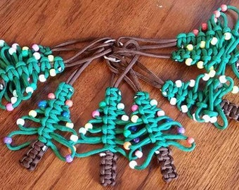 Christmas Tree Ornament, Paracord Ornament