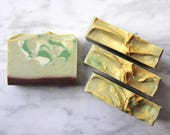 French Pear HOLIDAY Hand & Body Soap, Vegan Cold Process Soap Bar