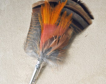 F053 Feather pin, hat pin, FREE US SHIPPING