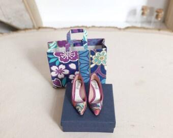 Handmade unique mini shoes 1/12 dollhouse scale