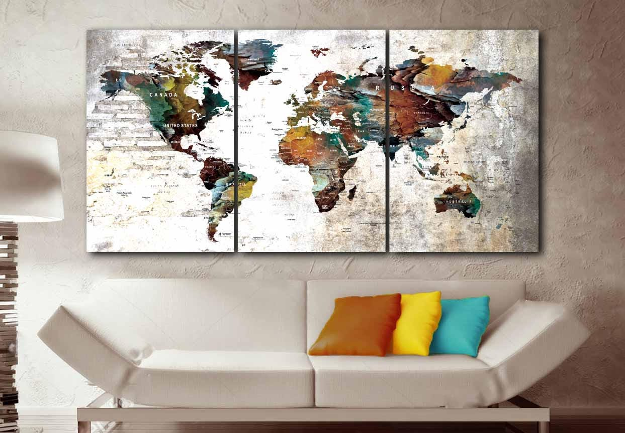 Large world map artworld mapworld map wall artworld map canvas large world map artworld mapworld map wall artworld map canvasworld map push pinpush pin map art canvas printtravel map canvas gumiabroncs Image collections