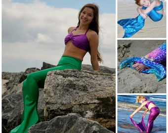 Swimmable Mermaid Tail,  Fast Shipping! 11 colors; Walkable Mermaid Costume
