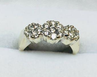 Diamond ring wedding cake server set