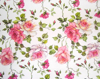 Romantic roses paper from Italy