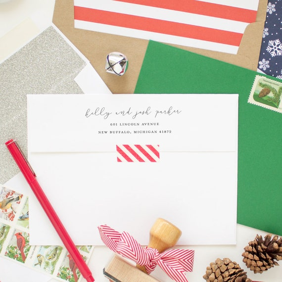 Return Address Printing for your Holiday Card Order