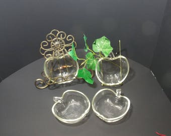 Clear Apple dishes Glasbake