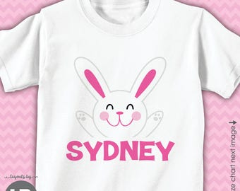 Girls Easter shirt or bodysuit - girls easter bunny personalized - Personalized Easter Outfit