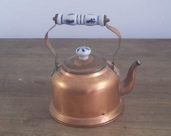Vintage French CopperTeapot  or Kettle.