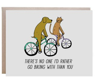 Bike Card, Mountain Bike, Love Card