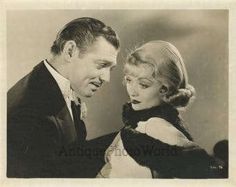 Clark Gable Constance Bennett in After Office Hours antique movie star photo