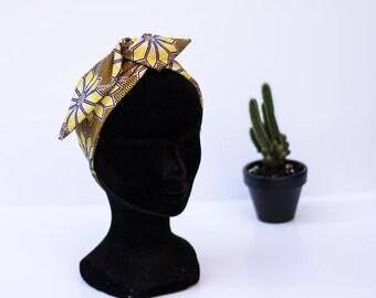 headband fabric wax glitter yellow