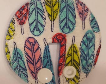 Tube pad. Cotton flannel top. Feathers.