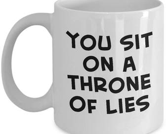 Buddy the Elf Movie Sit on a Throne of Lies Funny Gift Mug Coffee Cup Hat