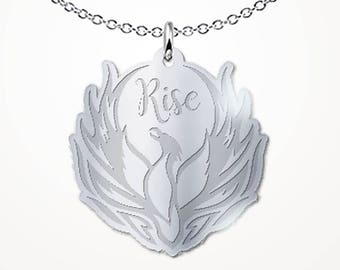 Phoenix from the Ashes Necklace - Rise - Motivational Inspirational Gift Jewelry