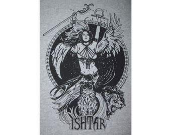 Ishtar Babylonian Mesopotamian Goddess Pagan T-Shirt BL