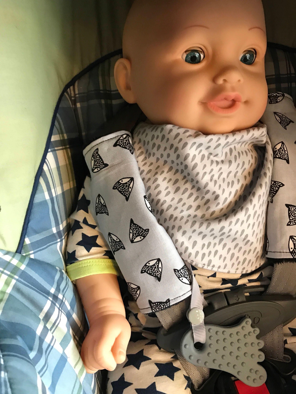 Couvre sangles pour banc de voiture ceinture de coquille ou for Banc auto bebe
