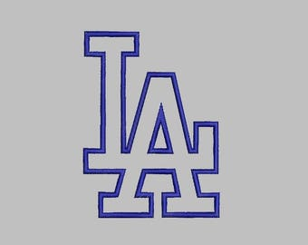 Los Angeles Dodgers Layered Svg Dxf Logo Vector File