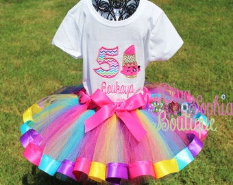 Shopkins Lippy Lips Ribbon Tutu Set - Birthday Tutu Set