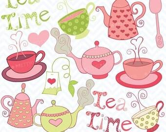 80% OFF SALE Teapot clipart, commercial use, vector graphics, digital clip art, digital images - CL405