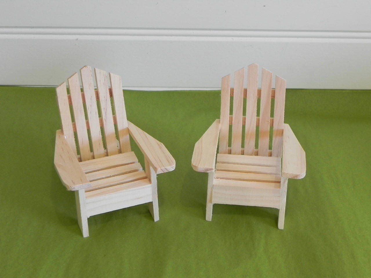 Adirondack Chair Miniature Ready To Paint Wood Supplies