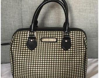 Vintage Ralph Lauren Houndstooth Doctor Speedy Boston Bag