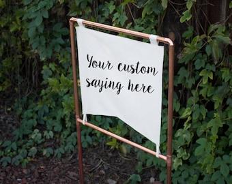 Custom Copper Sign, Personalized Copper Wedding Modern Wedding Reception Sign Metallic Wedding Sign Industrial Wedding