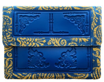 Envelope clutch / oversized clutch purse / vegan iPad case / case for tablets / vinyl and heavy fabric / durable and standout design
