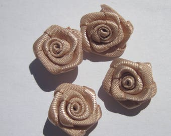 4 fabric bow in flower shape 14-15 mm approximately (A101)