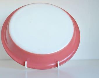 "Vintage PYREX Pie Plate Dish #209 PINK 9 1/2"""