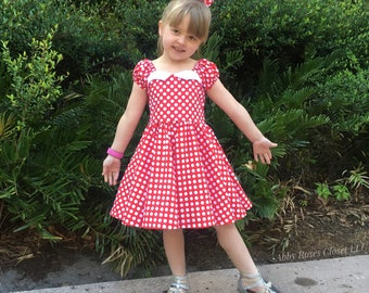 Miss Minnie dress, Minnie Mouse dress