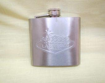 5 ounce Stainless Steel Flask , Welcome to Las Vegas Flask