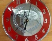 Re-purposed Cadillac Hubcap Center Wall Clock - Garage - Man-Cave - Handmade
