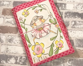 Fabric Fauxdori -READY TO SHIP - Fabric Travelers Notebook - A5 Size - Fauxdori - May Designs