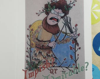 Belsnickel  - the Office - Holiday Card - Dwight Shrute