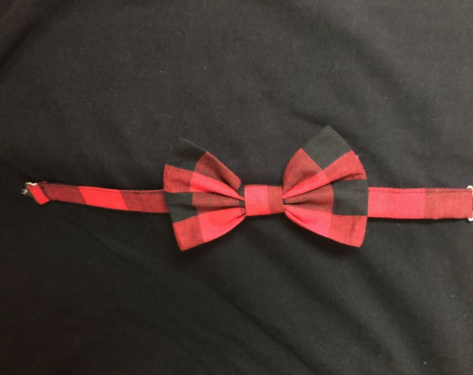 Buffalo Plaid Bow Tie/ Bow Tie/ Baby and Toddler Bow Tie