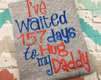 Daddy/Mommy Deployment Homecoming Shirt, Army, Navy, Air Force, Marines, Coast Guard, National Guard, Embroidered