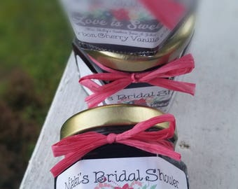Bridal Shower Favors - Wedding Favors - 125 (1.5oz) Jam Favors - Personalized - Rustic Wedding Favors - Baby Shower Favors - Georgia Peach
