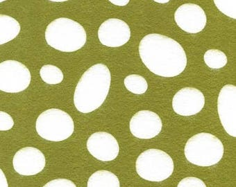By-the-HALF-yard Dr Seuss White DOTS on Grinch Green background 100% cotton Quilt shop quality Fabric