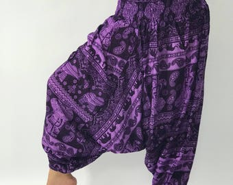 HL0111 Harem Pants Unisex Low Crotch Yoga Trousers gypsy pants rayon pants,aladdin pants maxi pants boho pants