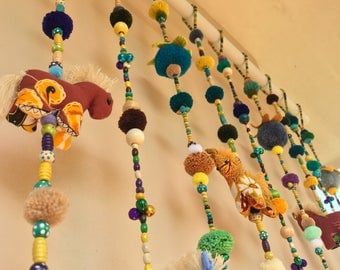 Made to order 100% Handmade Cute Doll Beads Curtain For Home Decoration (For Window)