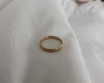18k Yellow Gold Antique Band Ring