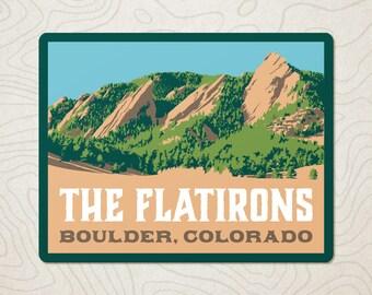The Boulder Flatirons Decal Sticker