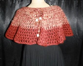 neck - shoulder or short poncho, wool mohair
